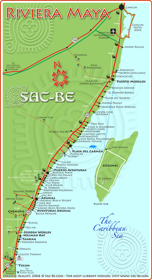Map of Riviera Maya