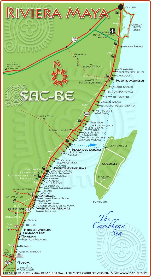 Map of Riviera Maya